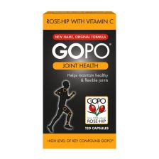 GOPO Joint Health Rose Hip with Vitamin C - 120 Capsules