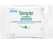 Simple Water Boost Micellar Makeup Remover Eye Pads 30