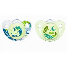 Nuk Nightday Silicone Soother 0-6 (2)